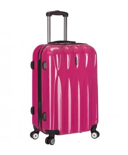 Cestovní kufr ICE T-1063/3-70 PC - růžová - 2. jakost
