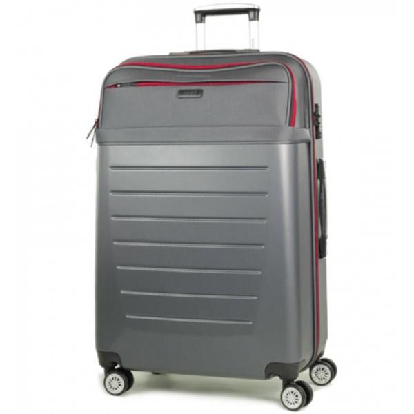Cestovní kufr ROCK TR-0166/3-L ABS/PES - charcoal - 2. jakost