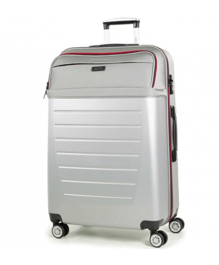 Cestovní kufr ROCK TR-0166/3-L ABS/PES - stříbrná - 2. jakost
