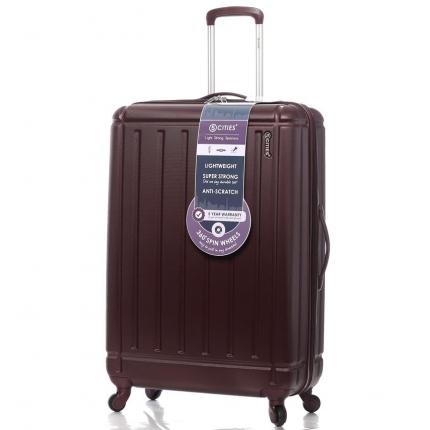 Cestovní kufr CITIES T-105/3-L ABS - vínová - 2. jakost