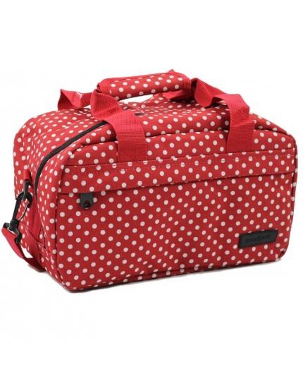 Cestovní taška MEMBER'S SB-0043 - červená/bílá - 2. jakost