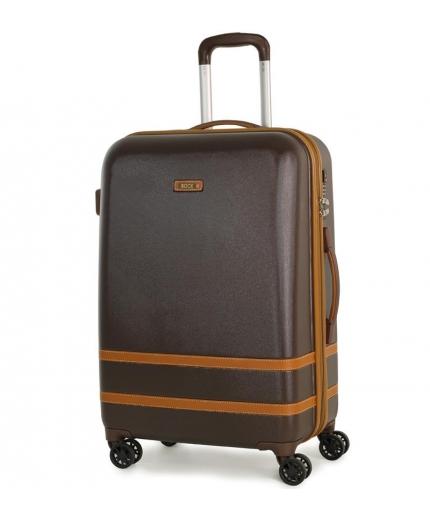 Cestovní kufr ROCK TR-0152/3-M ABS - hnědá - 2. jakost