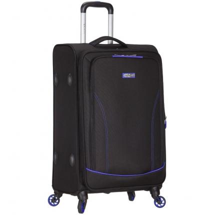 Cestovní kufr SPIRIT T-1115/3-L - černá/modrá - 2. jakost