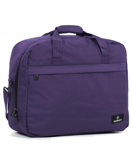 Cestovní taška MEMBER'S SB-0036 - fialová - 2. jakost