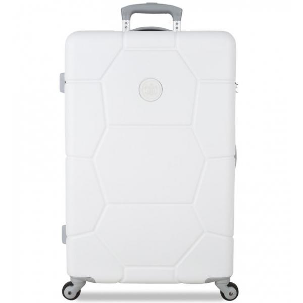 Cestovní kufr SUITSUIT® TR-1232/3-M ABS Caretta Sea Shell White - 2. jakost