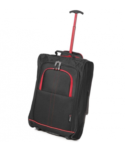 Kabinové zavazadlo CITIES T-830/1-55 - černá/červená - 2. jakost
