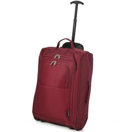 Kabinové zavazadlo CITIES T-830/1-55 - vínová - 2. jakost