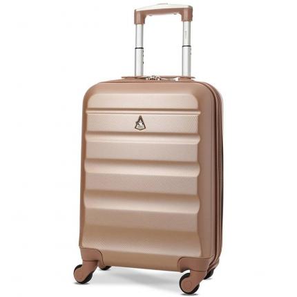 Kabinové zavazadlo AEROLITE T-322/1-S ABS - růžová - 2. jakost