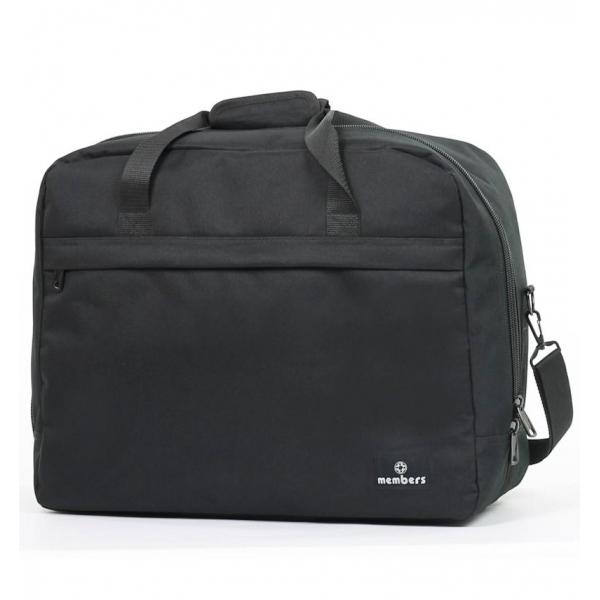 Cestovní taška MEMBER'S SB-0036 - černá - 2. jakost